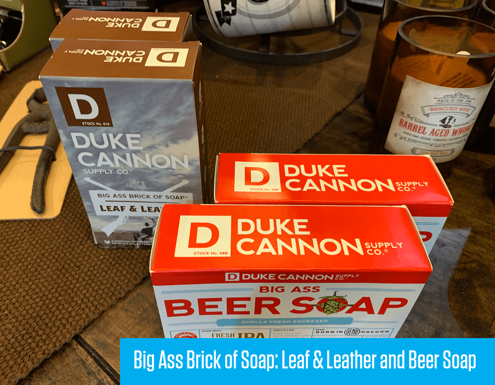 Big Ass Brick of Soap, Leaf & Leather and Beer Soap