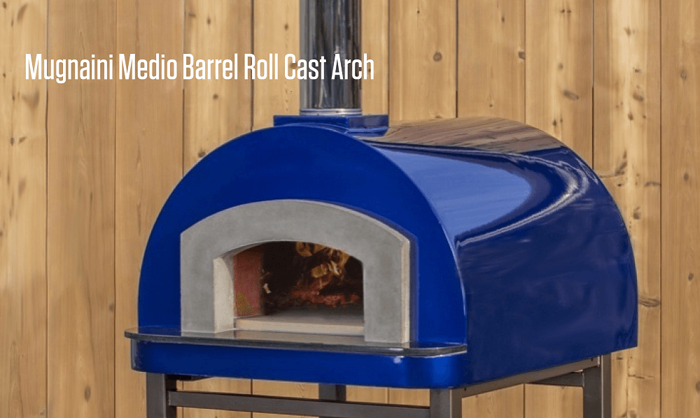 Mugnaini Medio Barrel Roll Cast Arch oven