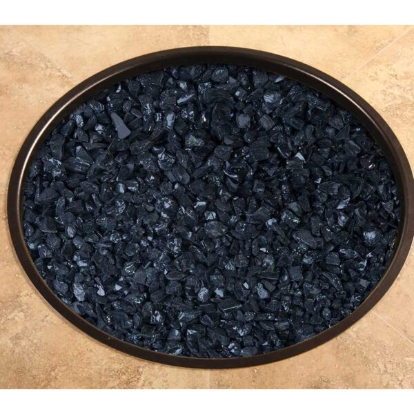 Black Crushed Fire Glass