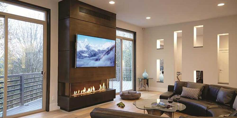 Ortal Three Sided Clear 170 TS Gas Fireplace