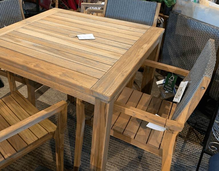 photo of teak table