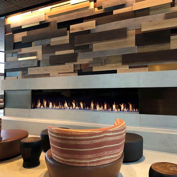 DaVinci Single Sided 132 Gas Fireplace