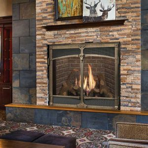FPX 4237CF SB Ironworks Gas Fireplace