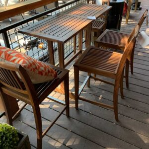 Jensen Leisure Balcony Table Counter Chairs