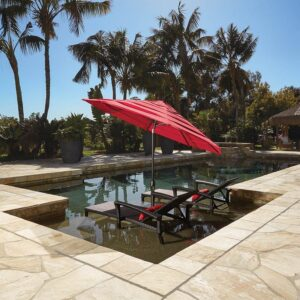 Treasure Garden 9' Auto Tilt Umbrella
