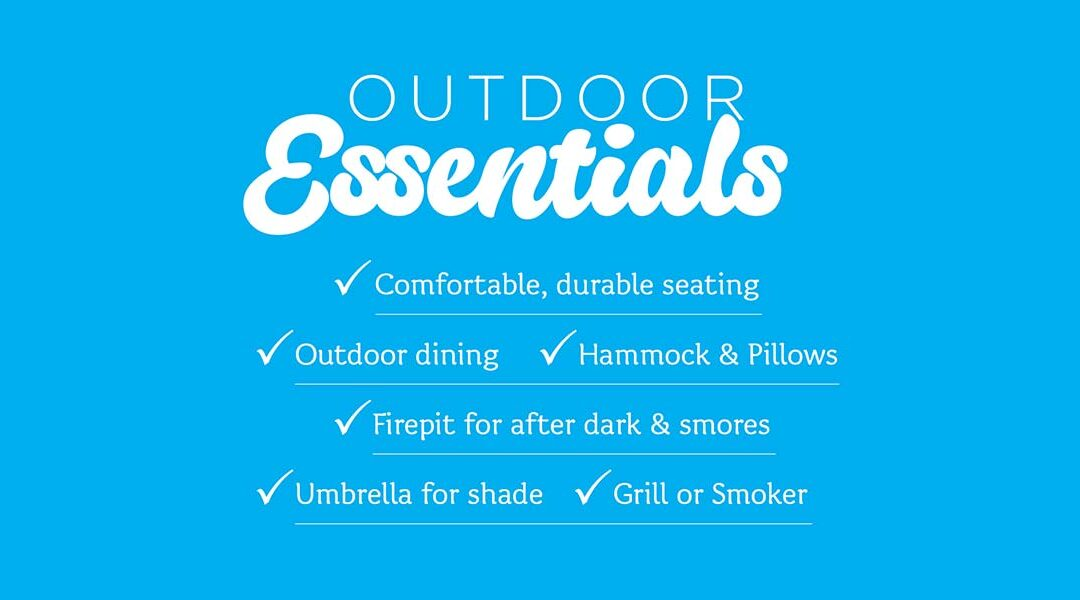 Outdoor Essentials Event. Mountain Home Style.