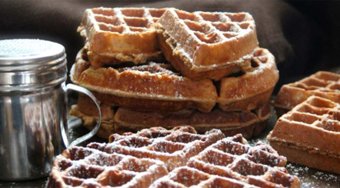 Granny's Gingerbread Waffles. Recipe Perfect for Christmas Morning.