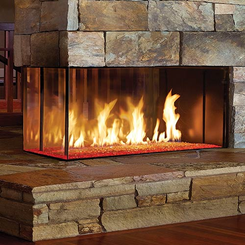 photo of gas fireplace