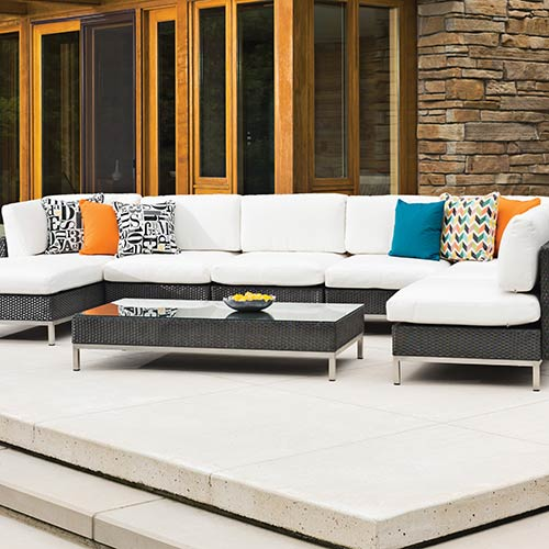 photo of outdoor sectional couch