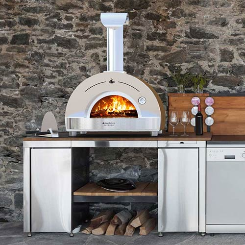 photo of patio oven